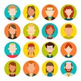 16 masculinos y sistema femenino del avatar Fotografía de archivo libre de regalías