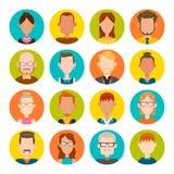 16 masculinos y sistema femenino del avatar Foto de archivo libre de regalías
