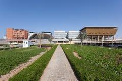 Masdar学院在阿布扎比 库存图片