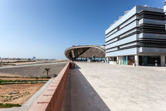 Masdar学院在阿布扎比 库存照片