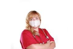 maseczki pielęgniarki nosić obrazy stock
