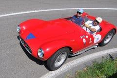 Maserati 1955 - Vernasca silberne Markierungsfahne 2011 Stockbilder