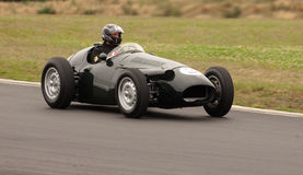 Maserati 250TF F1 race car. MS: 1953 Maserati 250TF F1  race car at a Festival of Motorsport at Hampton Downs Race Track - Historic revival series Royalty Free Stock Image