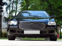 Maserati. Black luxury car Maserati. Isolated stock image