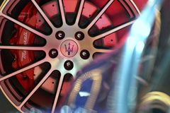 88th Geneva International Motor Show 2018 - Maserati wheel stock photography