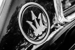 Maserati-autoembleem Stock Afbeeldingen
