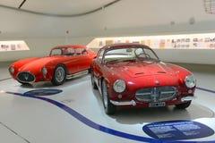 Maserati Berlinetta Pinin Farina and Berlinetta Zagato - Maserati centenary expo. Ferrari museum in Modena presents a 100 years of Maserati celebration expo Royalty Free Stock Photography