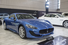 Maserati bilshow royaltyfria bilder