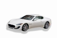 Maserati blanco GranTurismo foto de archivo libre de regalías