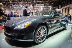 Maserati car Motor Show Geneve 2015. Stock Photos