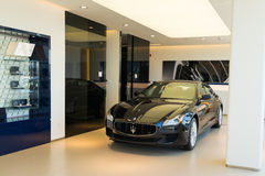Maserati car for sale. Maserati car in showroom for sale royalty free stock image