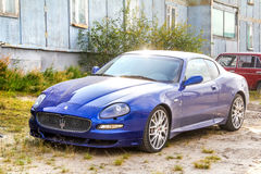 Maserati Coupe. NOVYY URENGOY, RUSSIA - AUGUST 31, 2012: Motor car Maserati Coupe in the town street Stock Image