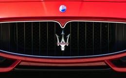 Maserati Dealership Sign and Logo Stock Photography