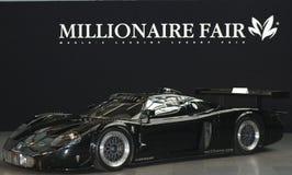 Maserati en el millonario justo imagen de archivo