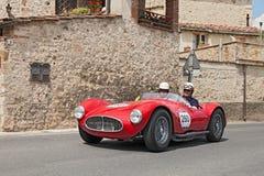 Maserati A6 GCS/53 Fantuzzi (1953) in Mille Miglia 2014 Stock Fotografie