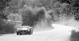 A Maserati A6GCS takes part to the GP Nuvolari Royalty Free Stock Images