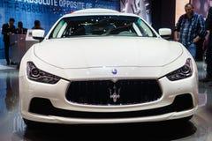 Maserati Ghibli, Motor Show Geneve 2015. Stock Photo