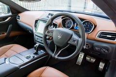 Maserati Ghibli S Interior Royalty Free Stock Photo