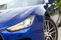 Maserati Ghibli sport sedan head light Royalty Free Stock Image