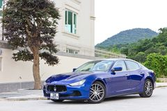 Maserati Ghibli sport sedan test drive Stock Photography