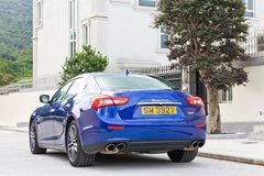 Maserati Ghibli sport sedan test drive Royalty Free Stock Image