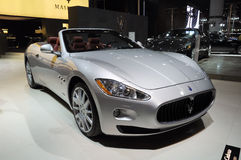 Maserati Gran Cabrio. Italy famous brand,Maserati Gran Cabrio sports car, in its exhibition hall,in 2010 international Auto-show GuangZhou. it is from 20/12/2010 Stock Photos