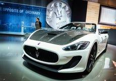 Maserati Grancabrio MC, Motor Show Geneve 2015. Royalty Free Stock Photo