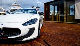 Maserati GranCabrio right side  in italy Royalty Free Stock Photography