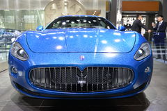 Maserati GranCabrio Sportscar. Guangzhou, China - November 22, 2014: Maserati GranCabrio sportscar was exhibited in the 12th China (Guangzhou) International Stock Image