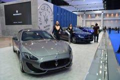 Maserati GranTurismo体育在曼谷国际泰国Mot 免版税库存图片