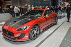 Maserati GranTurismo at the Geneva Motor Show Royalty Free Stock Photography