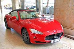 Maserati GranTurismo. MONTE CARLO, MONACO - AUGUST 2, 2014: Red supercar Maserati GranTurismo at the city street Royalty Free Stock Photo