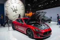 Maserati GranTurismo su esposizione fotografia stock libera da diritti