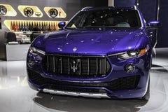 Maserati Levante bij Internationale Auto van New York wordt getoond dat toont Royalty-vrije Stock Fotografie