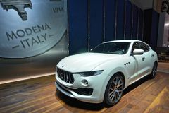 88th Geneva International Motor Show 2018 - Maserati Levante royalty free stock photo