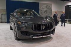 Maserati Levante op vertoning Stock Afbeelding