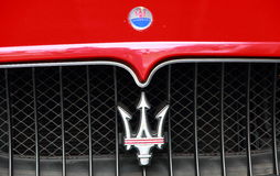 MASERATI logo Royalty Free Stock Photo