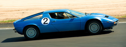 Maserati Merak Race Car Royalty Free Stock Images