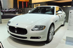Maserati Quattroporte. Italy famous brand,Maserati,Quattroporte sports car, in its exhibition hall,in 2010 international Auto-show GuangZhou. it is from 20/12/ Stock Photos