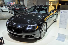 Maserati Quattroporte. Italy famous brand,Maserati,Quattroporte sports car, in its exhibition hall,in 2010 international Auto-show GuangZhou. it is from 20/12/ Royalty Free Stock Photos