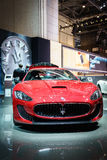 Maserati Quattroporte car, Motor Show Geneve 2015. Royalty Free Stock Photography