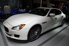 The Maserati Quattroporte Royalty Free Stock Photos