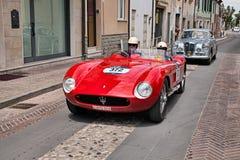 Maserati 150 S 1955年在Mille Miglia 2017年 库存照片