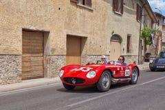 Maserati 150 S (1955)在Mille Miglia 2014年 免版税图库摄影