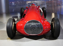 Maserati  Sport Car. A red Maserati sports car in exhibition hall Royalty Free Stock Photo