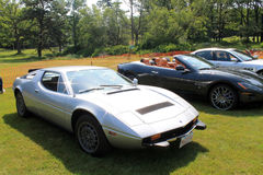 Maserati sports cars in a row Stock Photography