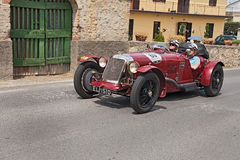 Maserati Tipo 26 M Sport (1930) runs in Mille Miglia 2014 Royalty Free Stock Photo