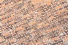 Masern Sie alte Backsteinmauer, diagonale Anordnung für alte Maurerarbeit Stockfotos