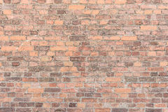 Masern Sie alte Backsteinmauer, horizontale Anordnung für alte Maurerarbeit Lizenzfreies Stockbild