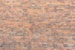 Masern Sie alte Backsteinmauer, horizontale Anordnung für alte Maurerarbeit Lizenzfreie Stockbilder